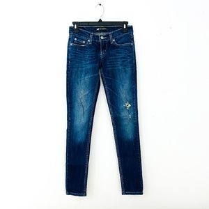 LEVIS 524 TOO SUPERLOW SKINNY JEANS DISTRESSED